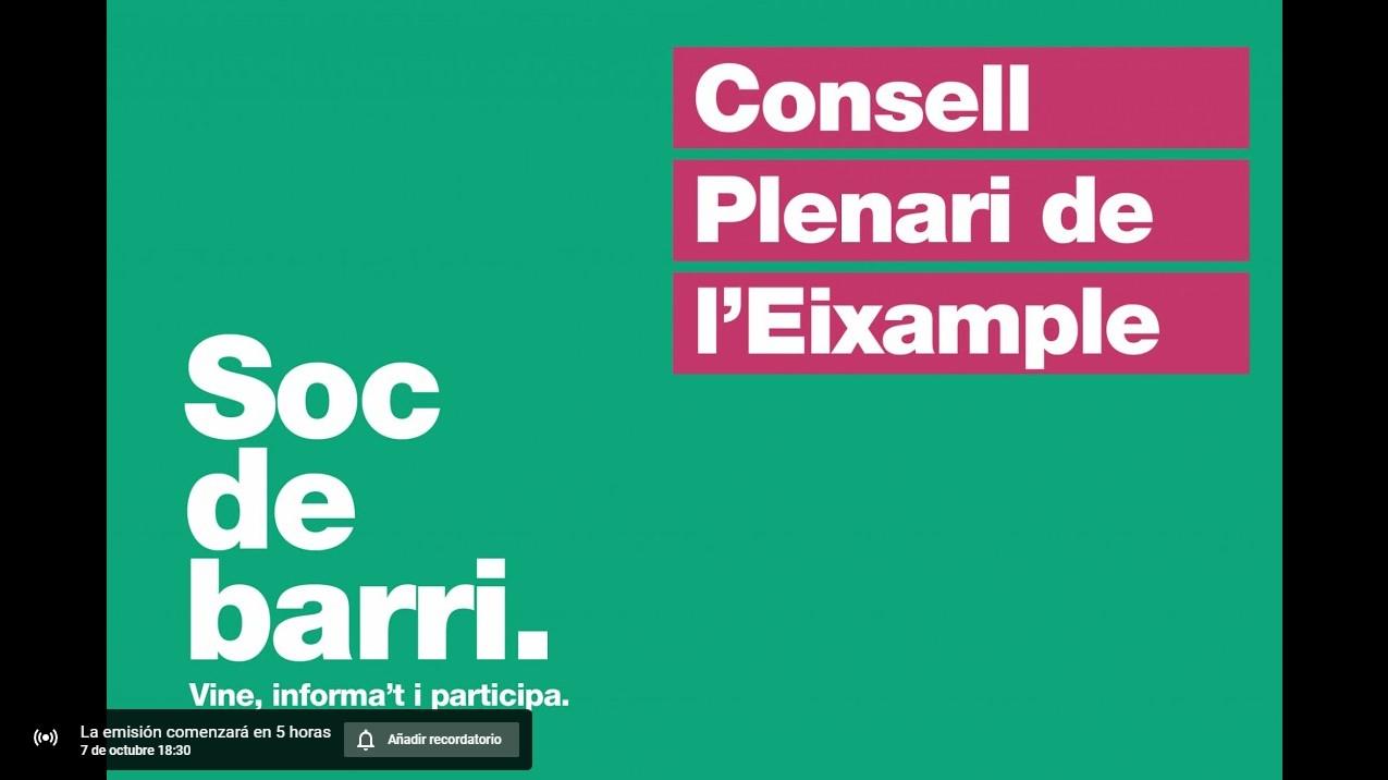 Read more about the article Consell Municipal del Districte de l'Eixample